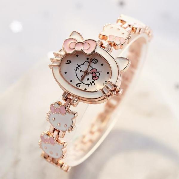 Giá bán Đồng hồ đeo tay cho bé - đồng hồ kitty siêu kute cho bé từ 1-10 tuổi