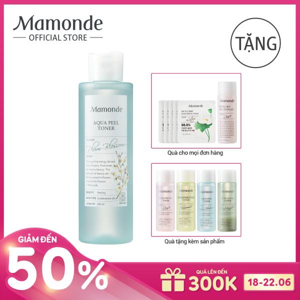 Nước cân bằng dưỡng ẩm loại bỏ tế bào da chết và bụi bẩn trên da Mamonde Aqua Peel Toner 250ml tốt nhất