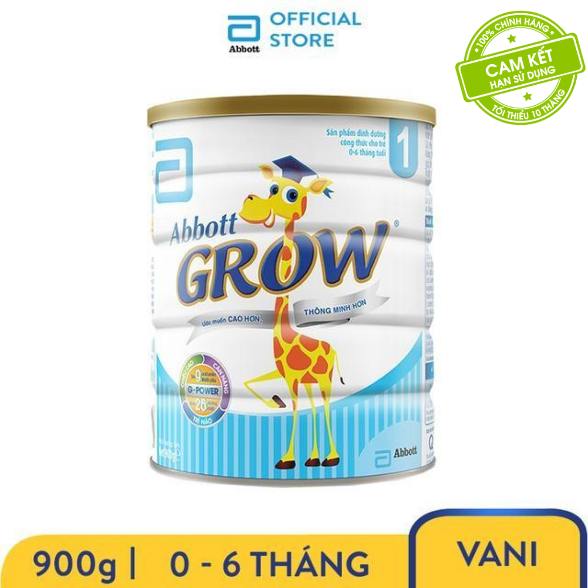 Sữa Abbott Grow 1 900g (0-6 tháng)