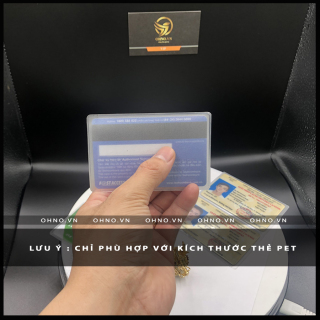 BAO đựng CAO cấp SU hào chống trầy xước thẻ căn cước CMND , ATM, Bằng lái xe , Thẻ sinh viên, nhân viên dạng thẻ PET 6