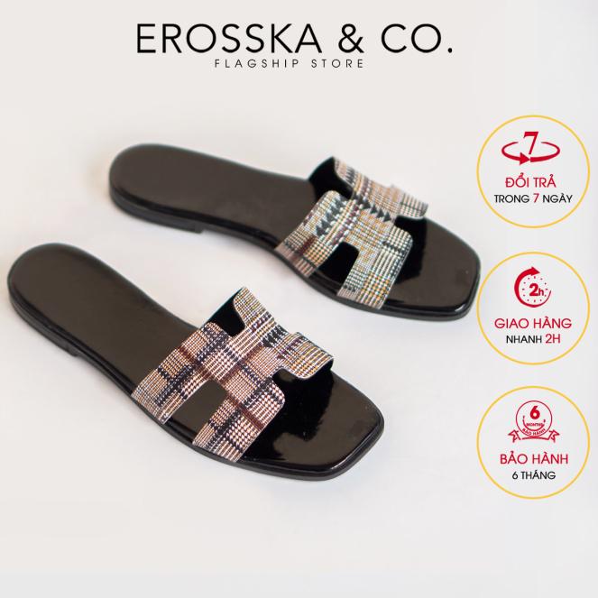 Dép nữ đế bệt chữ H quai ngang thời trang Erosska DE002 (BA) giá rẻ
