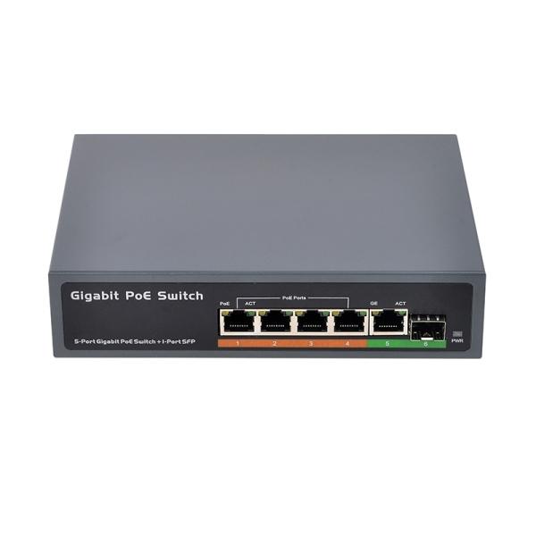 Bảng giá PSE604GS 4 Port POE + 1 Port Uplink + 1 Port SFP 65W IEEE802.3At / Af Standard All Gigabit POE Network Switch(EU Plug) Phong Vũ
