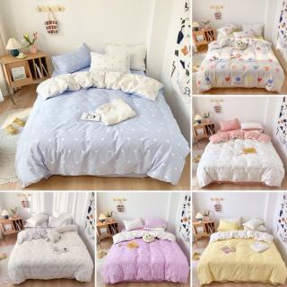 Bộ chăn ga họa tiết trái tim cho nàng Cotton Poly nhập khẩu - chăn ga Hàn Quốc thumbnail