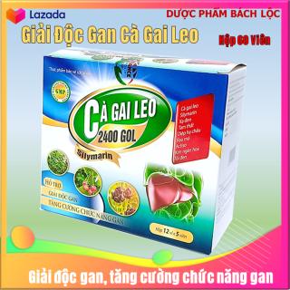 Viên uống giải độc gan Cà Gai Leo 2400 Gol,giúp giải độc gan, tăng cường chức năng gan, hạ men gan- Hộp 60 viên- HSd năm 2023 thumbnail