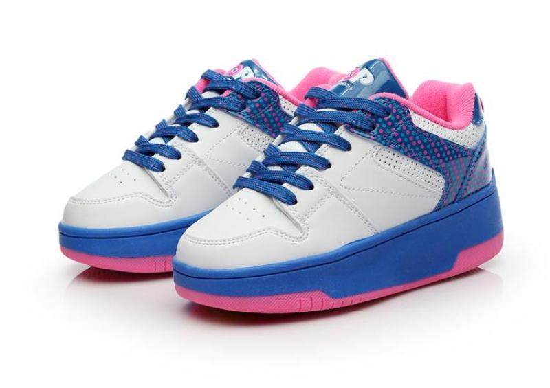 Phân phối Giày Bánh Xe Tự Động Trẻ Em Nút Bấm Nổ Giày Học Sinh Sinh Viên Cô Gái Thu Đông Ngoài Trời Giầy Thể Thao