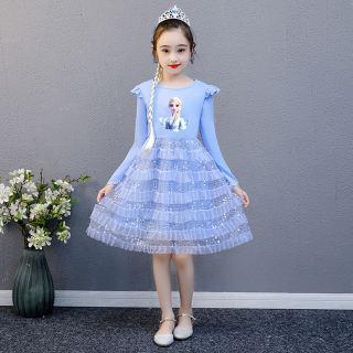 Váy Đầm Hóa Trang Akefun Cho Bé Gái Váy Công Chúa Elsa Cho Trẻ Em Elsa Baju