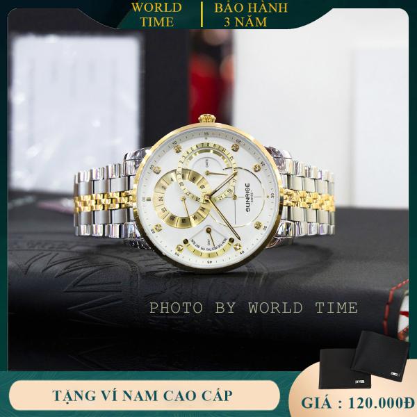 Đồng hồ nam Sunrise 1146SA [FULL BOX, Thẻ bảo hành hãng 3 năm] Kính Sapphire Chống xước , Chống nước, Dây thep không gỉ 316L