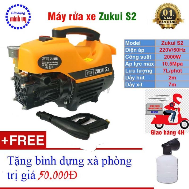 Máy xịt rửa xe Osaka 2000W -Zukui S1 S2 S3 - motor từ tặng bình xà phòng