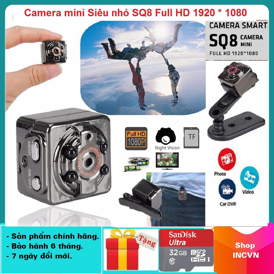 [Chỉ 1 Ngày - TẶNG KÈM THẺ NHỚ 32GB Trị Giá 199K ] Camera Mini Siêu Nhỏ SQ8 HD1080P Hình ảnh Rõ Nét Quay Cả Ban Ngày Và Ban đêm (camera Hành Trình Và Kiêm Camera An Ninh) Giảm Cực Đã