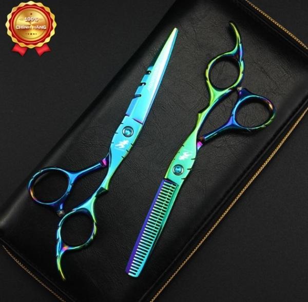 Bộ kéo cắt tóc Freelander titan (Tặng bao da và chỉnh kéo khi mua 2 cây ) cao cấp