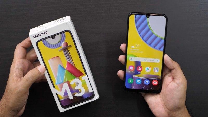Điện thoại Samsung Galaxy M31 128Gb pin khủng 6000mAh chiến game mượt
