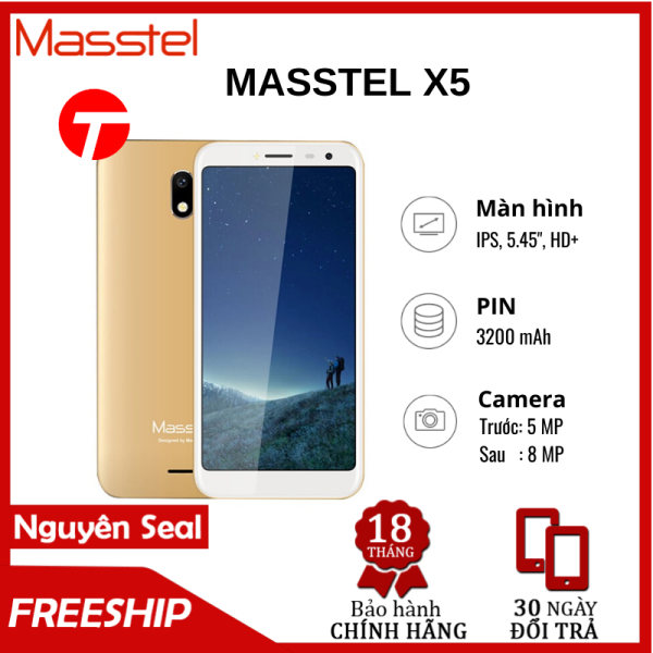 Điện thoại MASSTEL X5 RAM 1GB/8GB – Thiết kế tinh tế, 2 sim 2 sóng, Pin bền, sóng khỏe, thỏa sức trải nghiệm, giá bình dân cho HSSV, người già