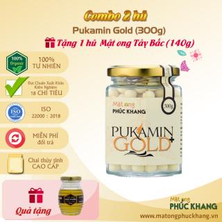 Combo 2 Hũ - Pukamin Gold Phúc Khang 300g - Thảo dược tự nhiên- Giúp đẹp da , giảm đau dạ dày , viêm đại tràng, chống oxy hóa ,ức chế ,ngăn ngừa tế bào ung thư , giảm thâm nám - Làm quà tặng người thân thumbnail