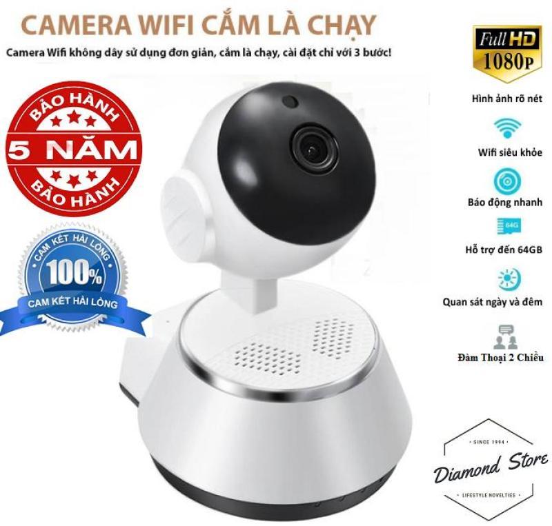 Camera IP Wifi V380 Xoay 360° Đàm Thoại 2 Chiều Full HD Đàm Thoại 2 Chiều