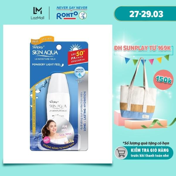 Sữa chống nắng hằng ngày dưỡng da giữ ẩm Sunplay Skin Aqua UV Moisture SPF50+ PA+++ 30g