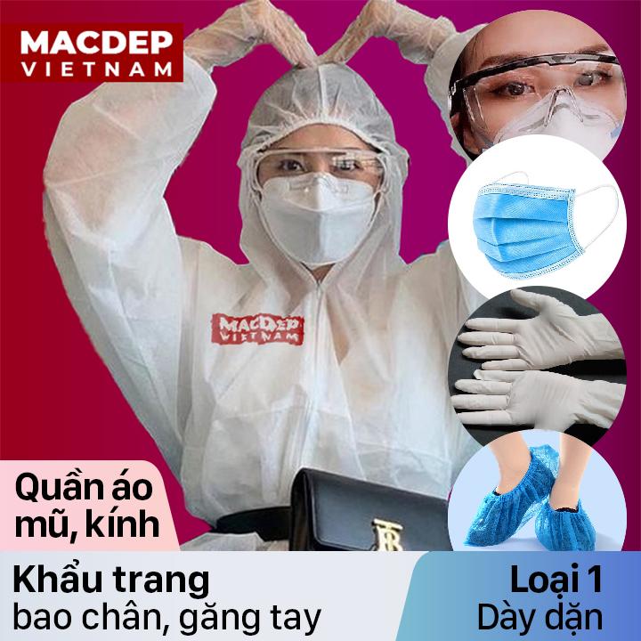 Quần áo bảo hộ phòng chống dịch, chống virus, vải kháng khuẩn dày dặn loại một
