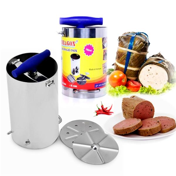 Khuôn làm giò inox dày cao cấp - loại 0.5 kg (hàng VN chất lượng)
