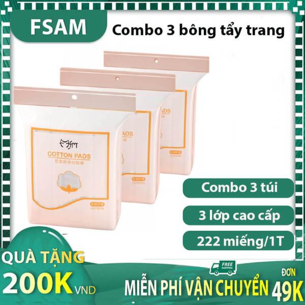 Combo 3 Bông Tẩy Trang 222 Miếng Loại Tốt Ko Thua Hàng 1000 Miếng Của Nhật Bản, Mua Cotton Pads Giá Tốt Tại Fsam Store