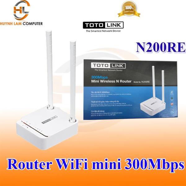Router WiFi - Thiết bị phát WiFi Totolink N200RE 2 angten tốc độ 300Mbps DGW phân phối