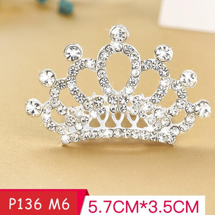 Giá bán Vương miện cài tóc công chúa đính đá lấp lánh cho bé gái phối đầm đi tiệc BBShine – P136