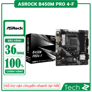 Mainboard ASROCK B450M PRO 4 F (AMD B450M, Socket AM4, m-ATX, 4 khe RAM DDR4) thumbnail