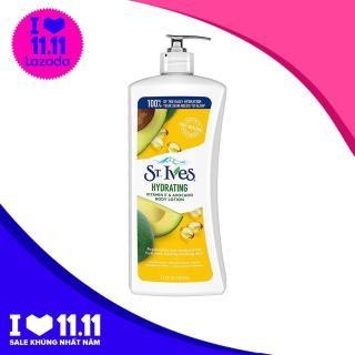 Dưỡng thể chiết xuất trái bơ St. Ives Daily Hydrating Body Lotion Vitamin E and Avocado 621ml thumbnail