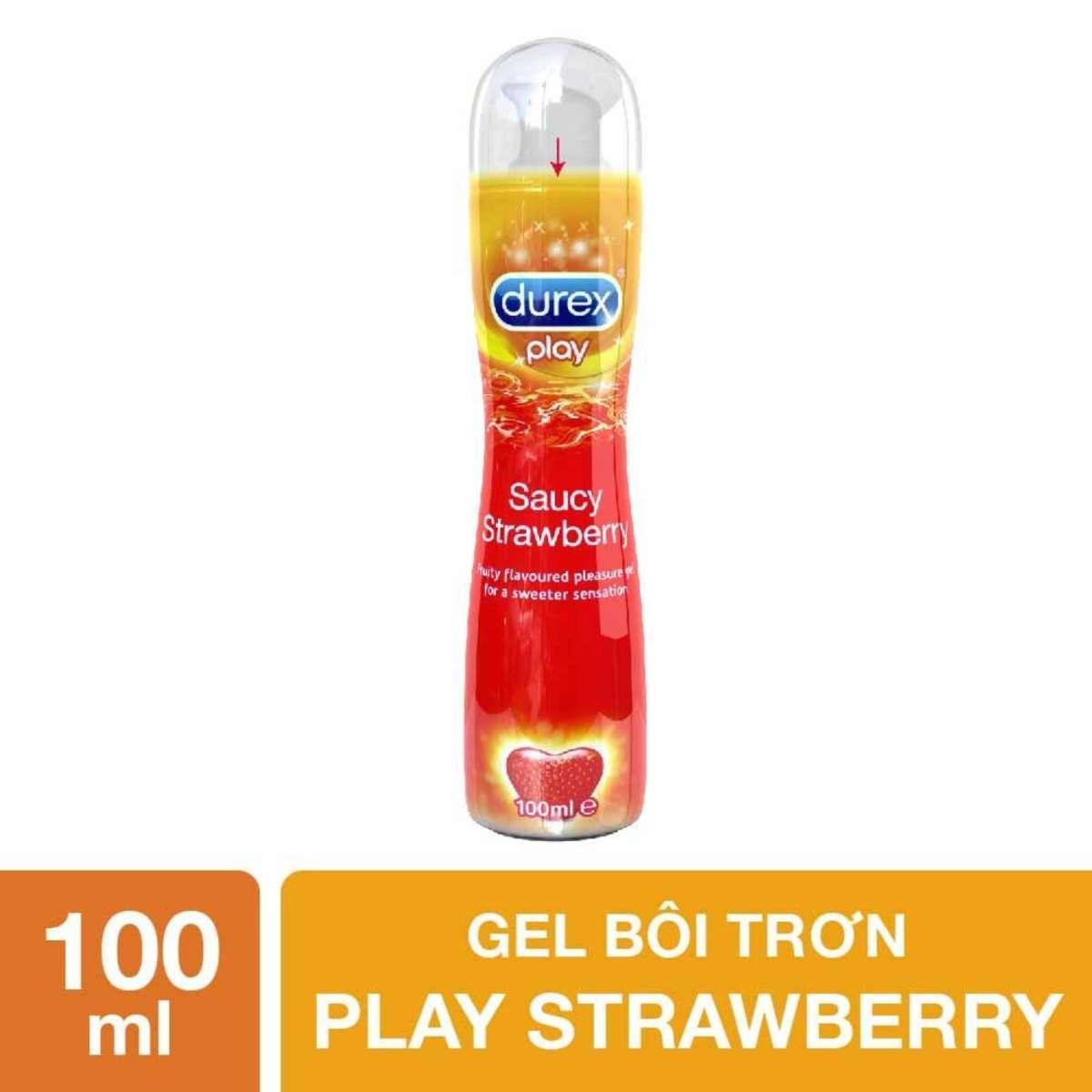 Gel bôi trơn Durex Play Strawberry 100ml - Hương vị ngọt ngào nhập khẩu