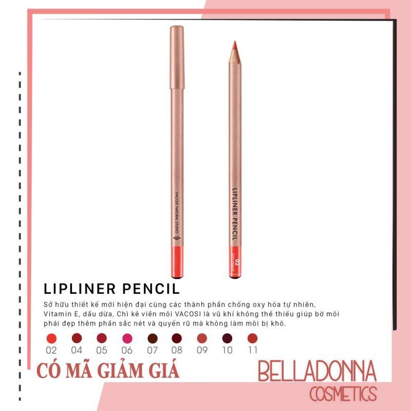 Chì Kẻ Viền Môi Vacosi Lipliner Pencil No.2 - Soft Orange giá rẻ