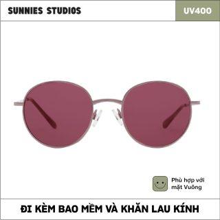 Kính mát Sunnies Studios Gọng Tròn Jett in Plum thumbnail