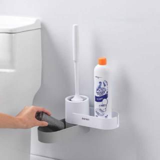 Kệ nhà vệ sinh toilet oenon treo dụng cụ cọ rửa nhà tắm lắp đặt dính tường - luwc - hình 1