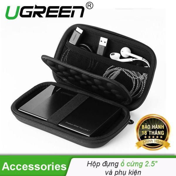 Hôp phụ kiện chống sốc đa năng, đựng ổ cứng 2.5  và các phụ kiện như tai nghe, dây sạc, ổ Flash... UGREEN 40707
