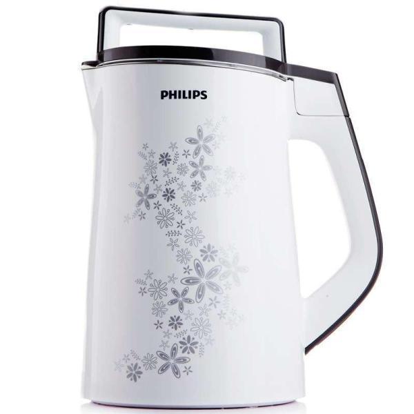 ( Thêm chức năng nấu sữa ngô ) Máy làm sữa đậu nành Philips HD2073 (Trắng) - Hàng nhập khẩu cùng seri HD2072