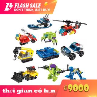 Qman Đồ chơi xếp hình mẫu 2013 dành cho trẻ em, đồ chơi mô hình lắp ráp 3 trong 1 (gửi mẫu ngẫu nhiên, kích thước 6.5x6.5x4cm) - INTL thumbnail