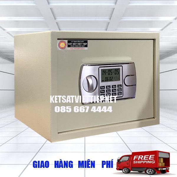 Két khách sạn Việt Tiệp KSVT26 núm xoay khóa điện tử báo động- C25*R35*S31cm-8kg-Công ty két sắt Việt Tiệp uy tín