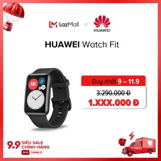 Đồng hồ thông minh Huawei Watch Fit Thiết kế mỏng nhẹ Màn hình AMOLED 1.64 Luyện tập nhanh với huấn luyện viên ảo Chuẩn kháng nước 5 ATM Đo nồng độ Oxy Spo2 Hàng phân phối chính hãng thumbnail