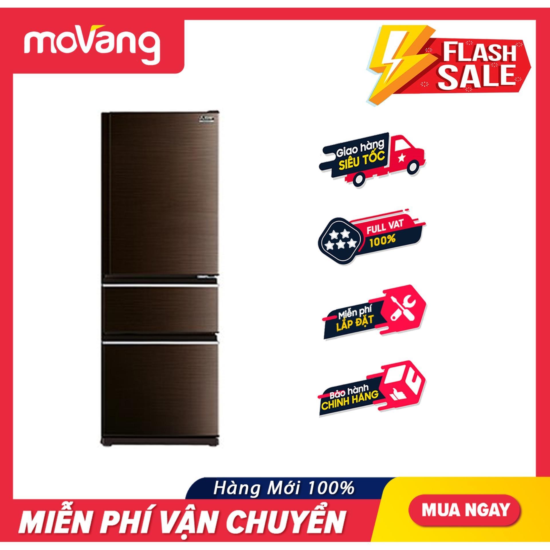 Tủ Lạnh Mitsubishi Electric 326 Lít MR-CX41EJ-BRW-V Công Nghệ Neuro Inverter Tiết Kiệm đến 45% điện Năng, Thiết Kế 3 Vùng Nhiệt độ Riêng Biệt Đang Ưu Đãi Cực Đã