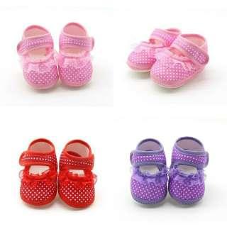 (CHỌN MẪU) Giày tập đi đế mềm chống trượt bé gái chấm bi và viền ren (Mẫu 2 dép tập đi) giầy tập đi, sandal mềm