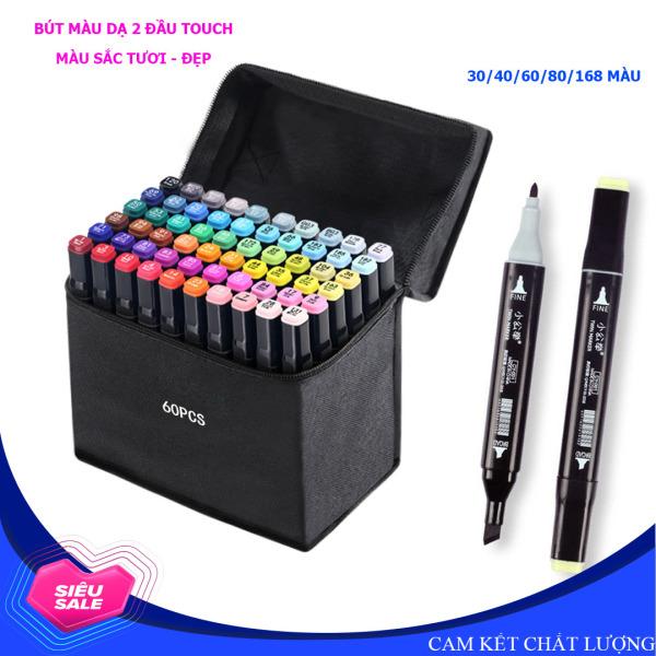 Bộ bút màu dạ cồn 2 đầu, bút màu Touch chất lượng cao, bút màu vẽ - (Đủ loại lựa chọn)