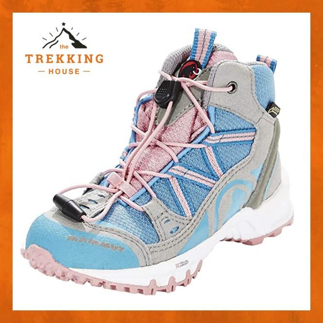 Giày leo núi trekking chống thấm nước Mammut Trắng Xanh Hồng, Giày phượt outdoor dã ngoại giá rẻ