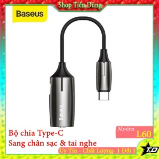 Đầu chuyển Baseus L60 Type C sang Type C + Audio AUX 3.5mm ( Type-C Male to Type-C & 3.5mm Female 2-in-1Adapter) thumbnail