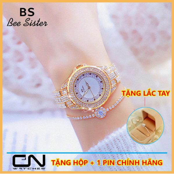 [HCM]Đồng hồ nữ đẹp Bs Bee Sister FA1623 chính hãng dây và mặt đính đá cao cấp chống nước Đồng hồ nữ thời trang Hàn Quốc giá rẻ