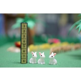 Thỏ Trắng Trang Trí Nhà Búp Bê Tiểu Cảnh Bonsai Charm Slime thumbnail