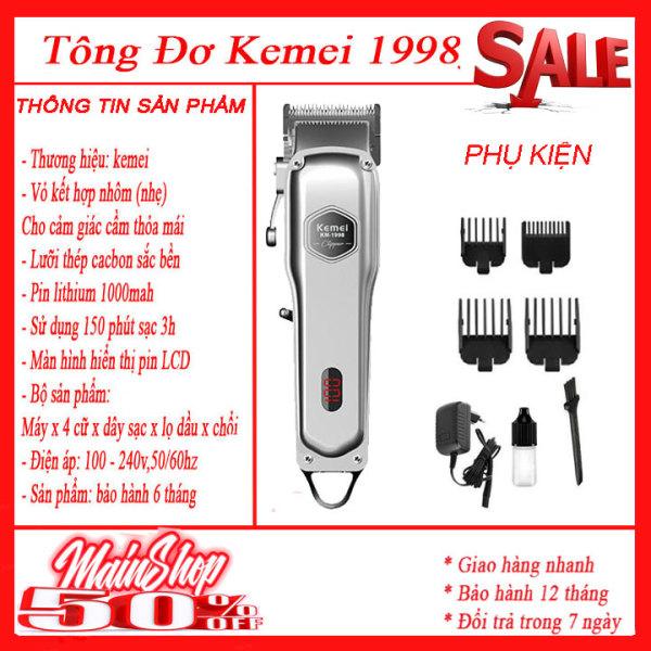 Tăng đơ 1998 , Tông đơ cắt tóc kemei 1998, pin lithium 1000mah-hãng phân phối Tông đơ cắt tóc, Tông đơ cắt tóc người lớn trẻ em, Tông đơ cắt tóc đa năng chuyên nghiệp, chất lượng tốt như philips, codos, wahl, jic