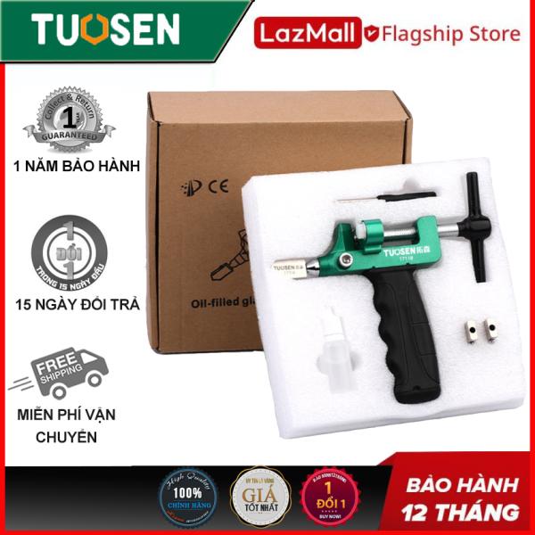 Bộ dụng cụ cắt kính Tuosen, gạch men 2 trong 1 (cắt và bẻ), làm bằng hợp kim nhôm TUOSEN (Hộp gồm 3 lưỡi, 1 lọ dầu, 1 tô vít, 1 thân máy)