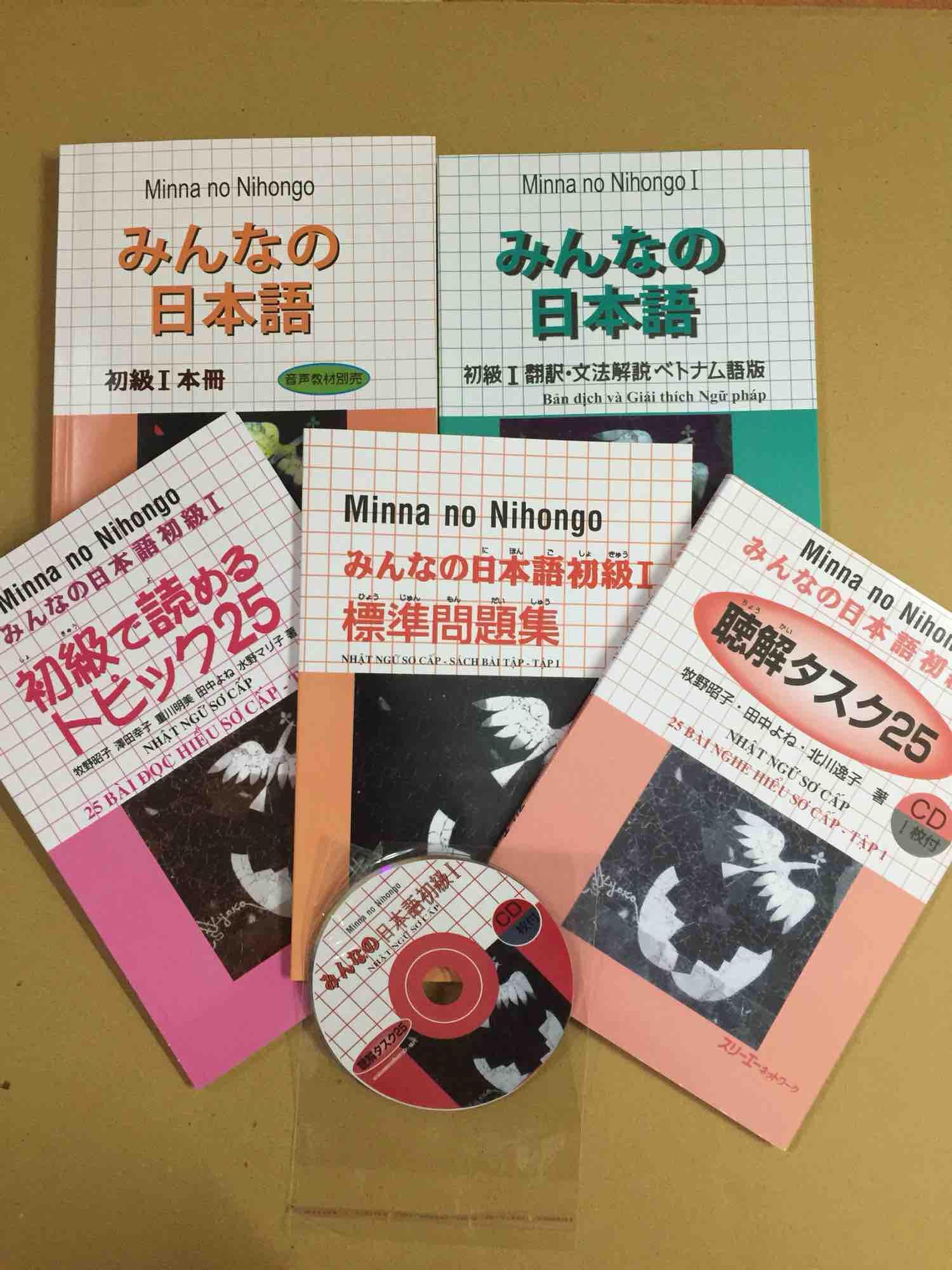 Mua Minna no nihongo tập 1 bộ 5 cuốn