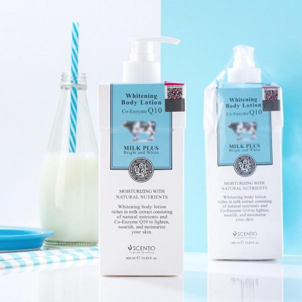 Sữa dưỡng thể trắng da toàn thân body Bò Q10 Milk Plus Thái Lan dưỡng trắng sáng và mịn da nhập khẩu