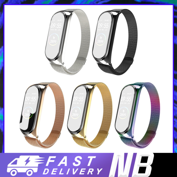 Dây đeo bằng kim loại kiểu dáng thời trang cho vòng tay thông minh Xiaomi Mi Band 3/4 - Dây đeo kim loại thay thế cho Mi Band 3 4