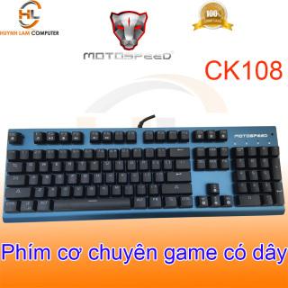 Phím cơ chuyên game MotoSpeed CK108 (xanh) Led RGB nhiều chế độ - NWH phân phối thumbnail