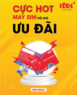 Combo Sim Giá Rẻ Bất Ngờ - Sim 4G iTel-Vinaphone Gói May - Chỉ 77k Data 3Gb ngày (90Gb Tháng) - 4G tốc độ cao Toàn Quốc- Gọi Miễn Phí - Free 60 SMS thumbnail