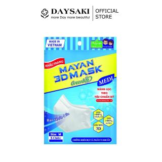 Mayan Khẩu Trang 3D Mask Pm2.5 Medi Freesize Màng Lọc N95 5 Chiếc thumbnail